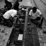 L'interruption de la première ligne de tramway a été aussi l'occasion de réaliser la maintenance préventive des équipements : ici, station De Gaulle 1