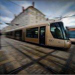 Passage d'un tram sur la 2eme ligne place de Gaulle 1