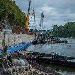 Festival de Loire : Mise à l'eau des derniers bateaux 2
