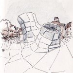 Un dessin sympa du bâtiment Les Turbulences (FRAC Centre) 1