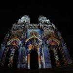 Projection sur la cathédrale Sainte Croix la nuit 1