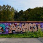 Restes du mur de Berlin ? Non, mur de la Chapelle Saint Mesmin 1