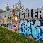Restes du mur de Berlin ? Non, mur de la Chapelle Saint Mesmin 2