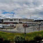 Une vue panoramique sur les travaux du nouvel hôpital de la Source. 1