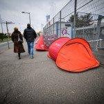 Sans domicile fixe au Parc Expo 1
