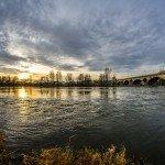 Le lever du soleil sur le pont Georges V 2