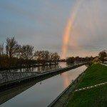 un lever de soleil somptueux doublé d'un arc-en-ciel 15