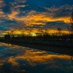 un lever de soleil somptueux doublé d'un arc-en-ciel 16