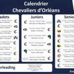 Ça y est le calendrier des Chevaliers d'Orléans est dispo 1