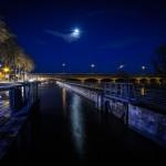 Ma photo du soir : Clair de lune nuageux sur le canal à hauteur du port. 14