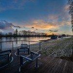 Le coucher de soleil sur la Loire qui déborde quai Chatelet 2