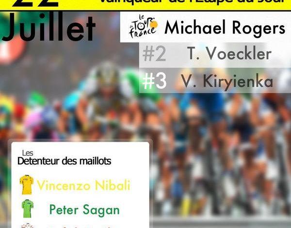 [Tour de France 2014] : La 16éme étape pour Michael Rogers 1