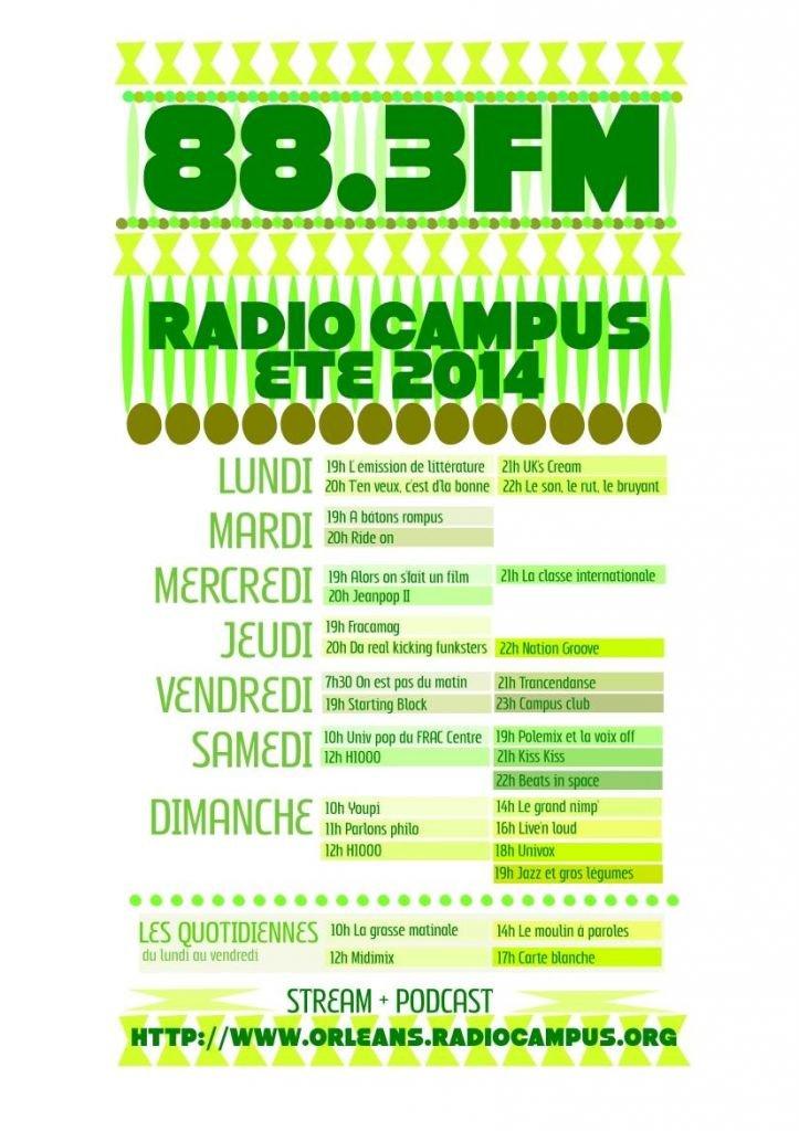grille ete 2014 radio campus orleans