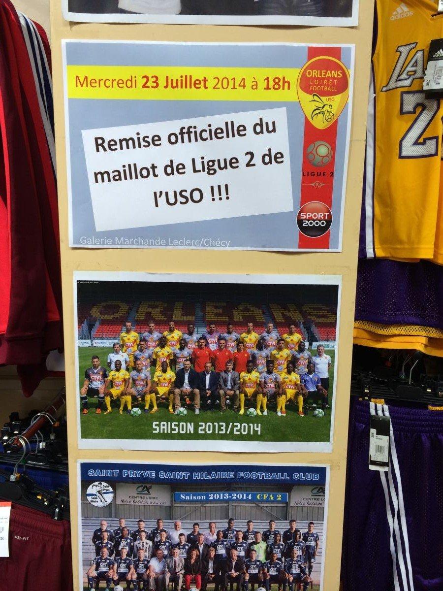 [Football] : Présentation des nouveaux maillots de l'US Orléans Loiret Football 22