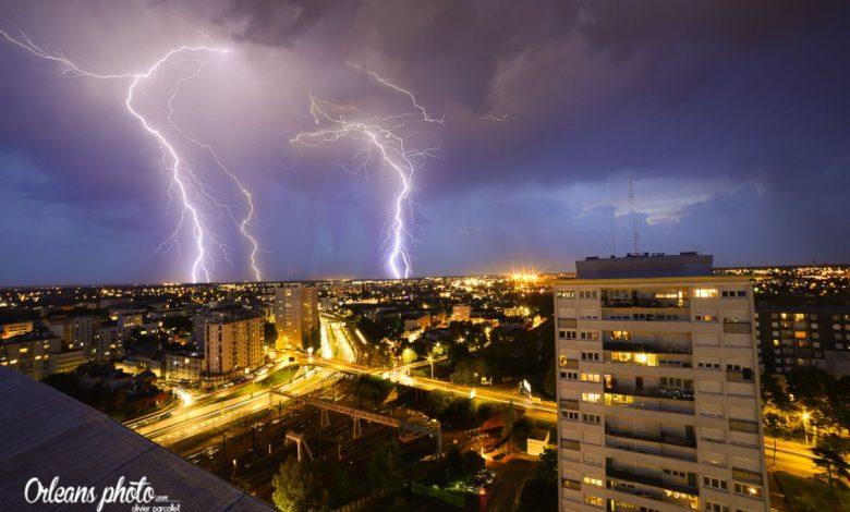 De gros orages sont passés hier sur la région orléanaise 1