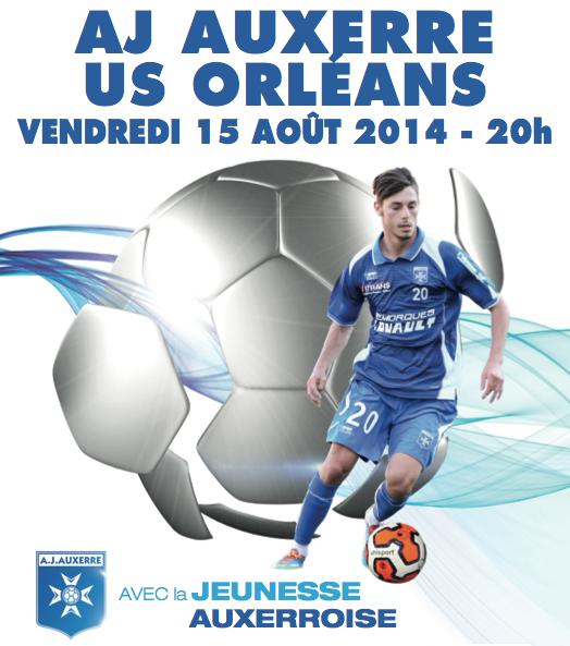 [Football / Ligue 2, 3éme Journée] : AJ Auxerre 0-1 US Orléans Loiret Football 22
