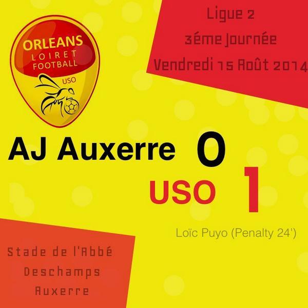 [Football / Ligue 2, 3éme Journée] : AJ Auxerre 0-1 US Orléans (Résumé Vidéo) 21