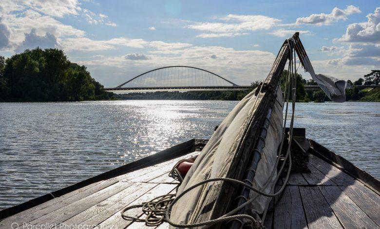 Nos photos du jour : Le pont de l'Europe vu du milieu de la Loire 1