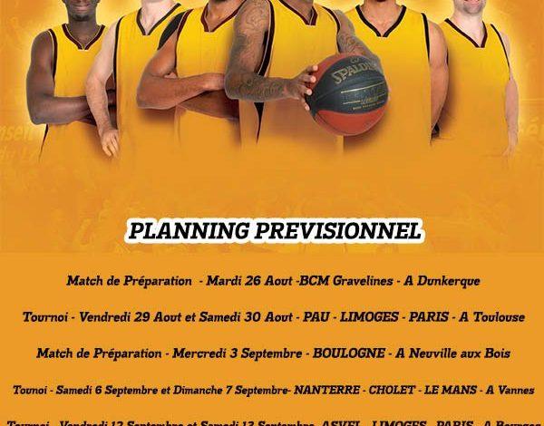 [Basket / Pro A] : Le Planning de Pré-Saison de l'Orléans Loiret Basket 1