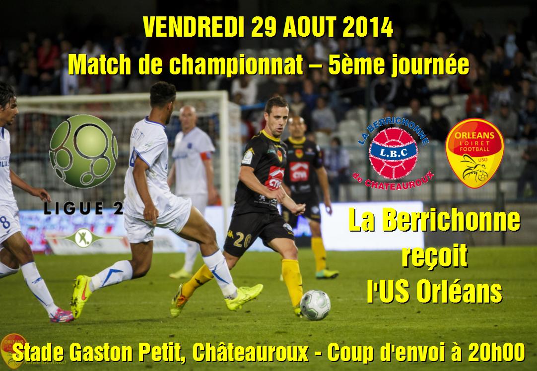 [Football : Ligue 2, 5éme journée] : Berrichonne Châteauroux VS US Orléans Loiret Football 124