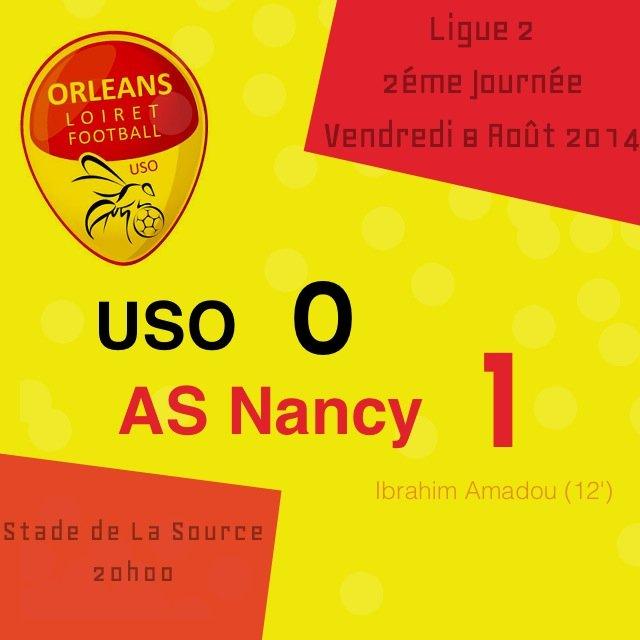[Football / Ligue 2, 2éme Journée] : US Orléans 0-1 AS Nancy (Résumé Vidéo) 44