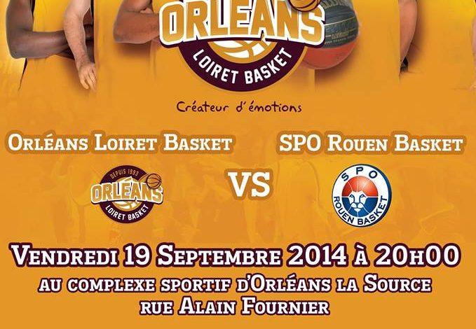 [Basket / Préparation] : Orléans Loiret Basket VS SPO Rouen  1