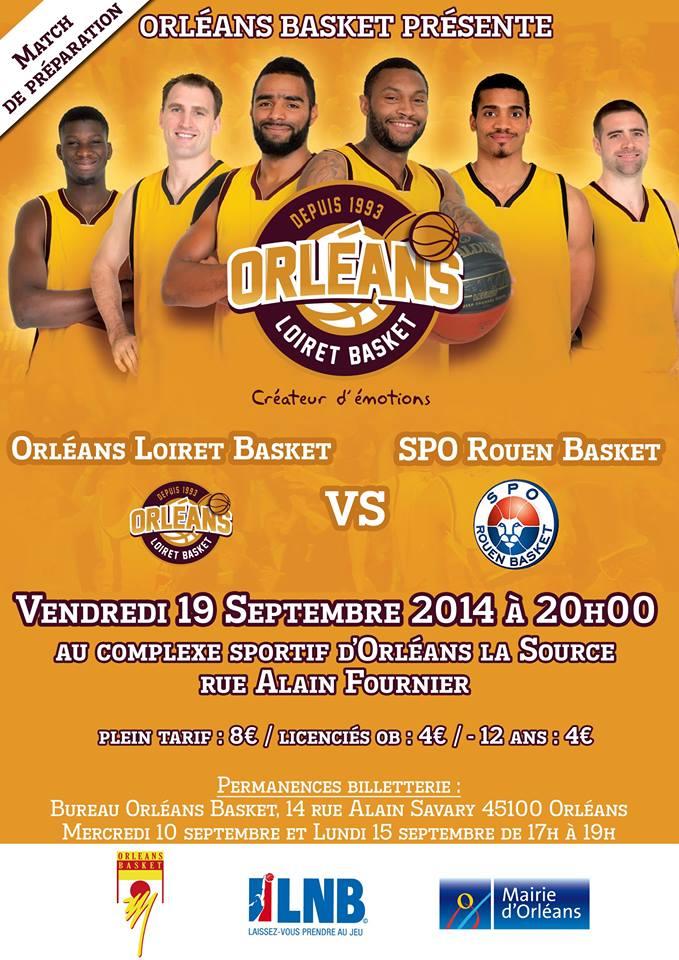 [Basket / Préparation] : Orléans Loiret Basket VS SPO Rouen  3
