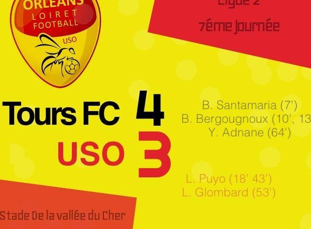 [Football / Ligue 2, 7éme Journée] : Tours Football Club 4-3 US Orléans Loiret Football 1