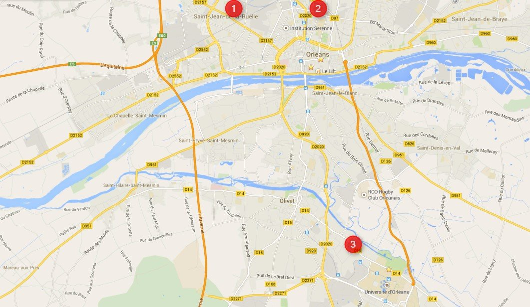 plan carte pharmacie de garde orléans