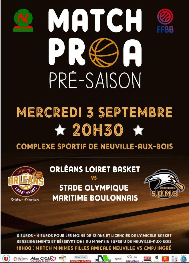 [Basket / Amical] : Orléans Loiret Basket VS Stade Olympique Maritime Boulonnais 5