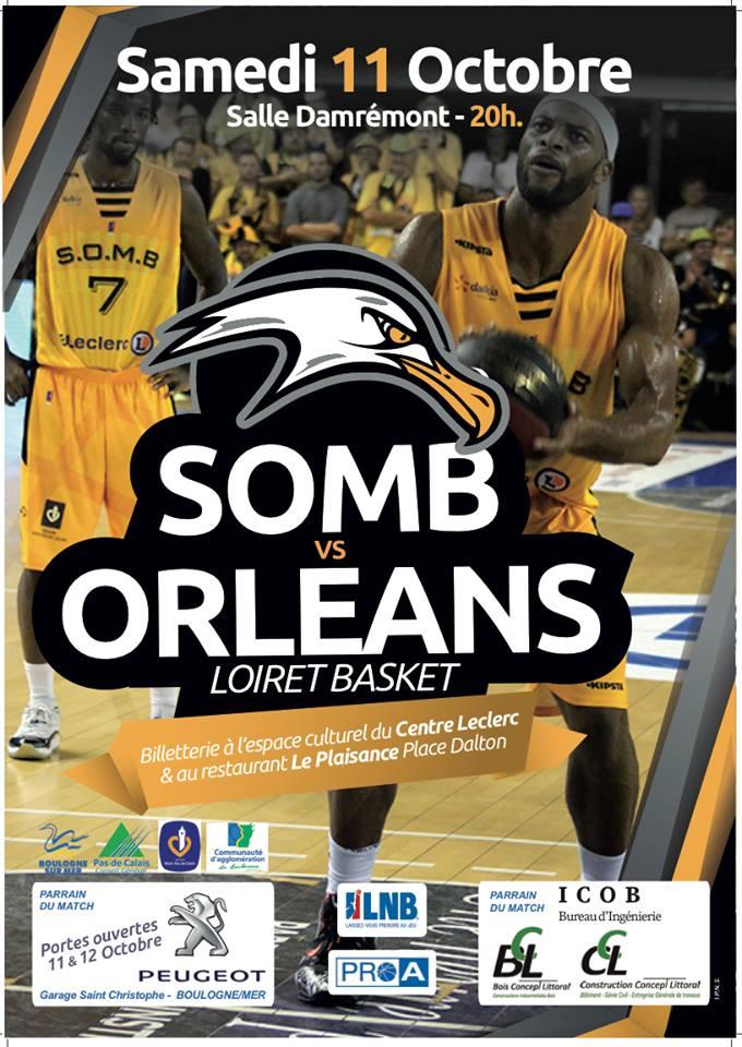 [Basket : Pro A, 3éme Journée] : Boulogne sur Mer (17éme) VS Orléans Loiret Basket (18éme) 1