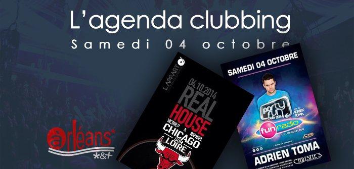 L'agenda clubbing du samedi 04 octobre 1