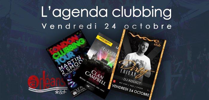 L'agenda clubbing du vendredi 24 octobre 12