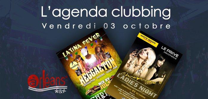 L'agenda clubbing du vendredi 03 octobre 1