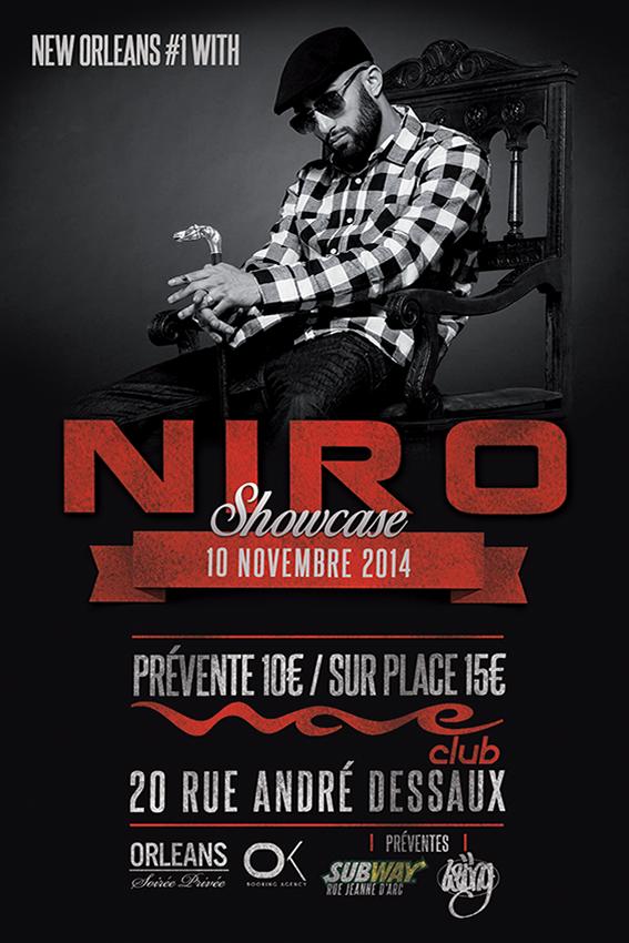 niro en showcase au wave club le 10 novembre pour info orl ans. Black Bedroom Furniture Sets. Home Design Ideas