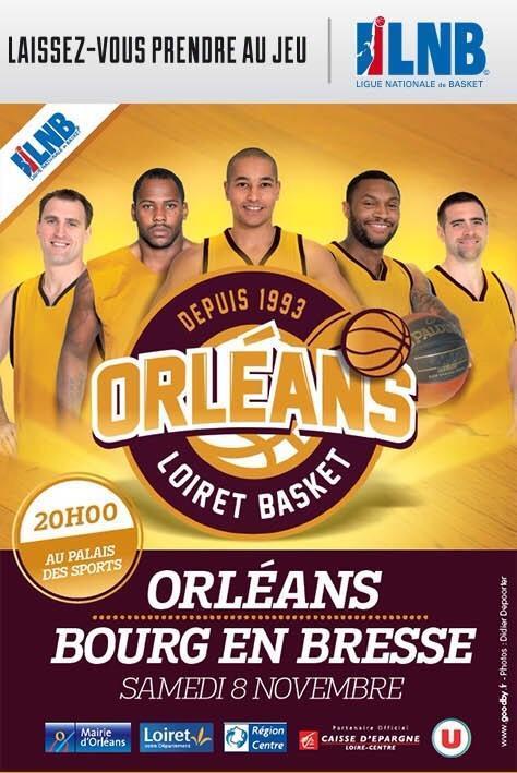 [Basket : Pro A, 7éme Journée] : Orléans Loiret Basket VS JL Bourg en Bresse 1