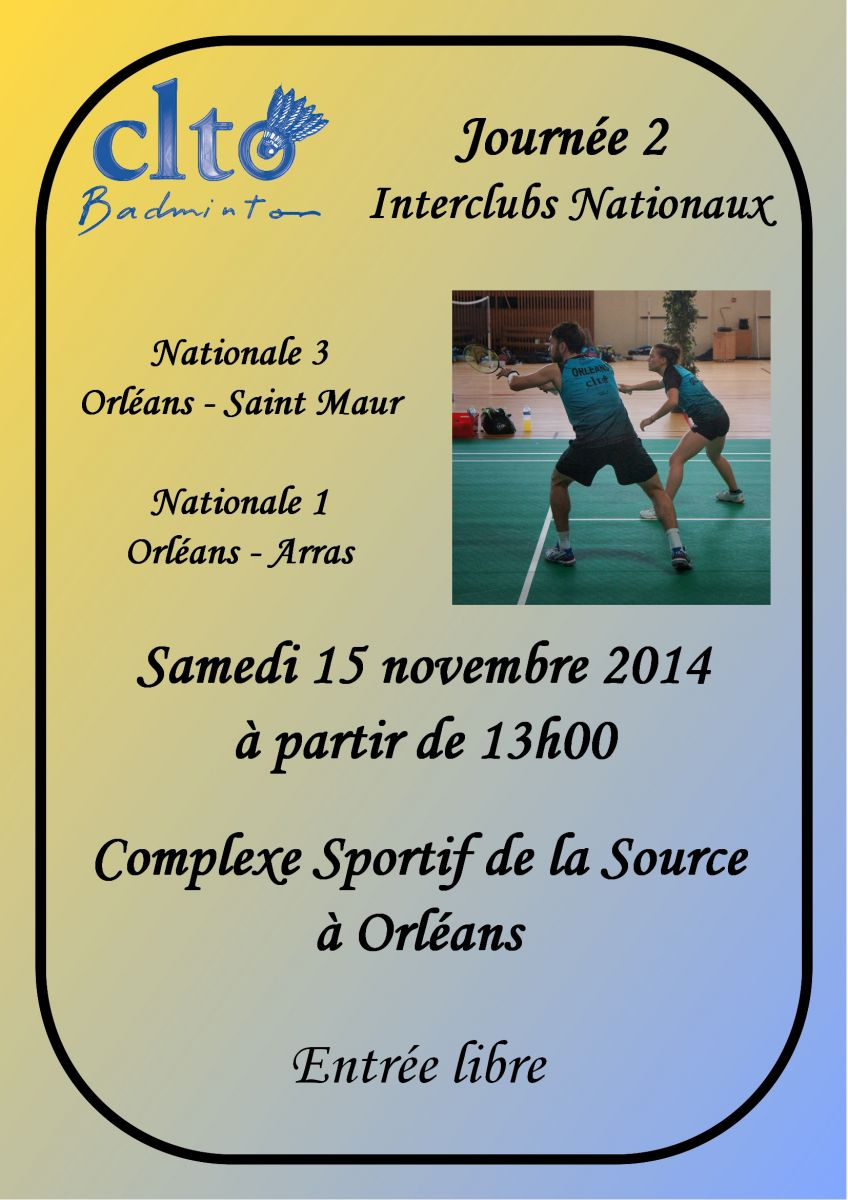 Badminton clto nationale J2