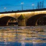 Sur la Loire à la tombée de la nuit 2