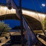 Sur la Loire à la tombée de la nuit 3