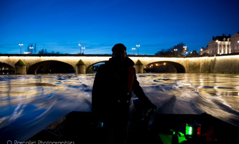Sur la Loire à la tombée de la nuit 1