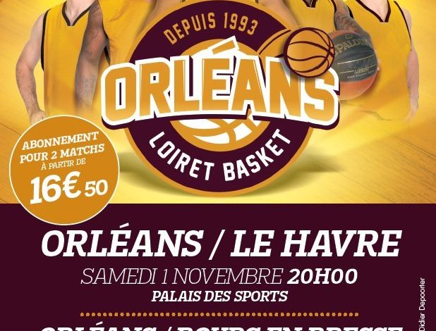 [Basket, Pro A : 6éme Journée] : Orléans Loiret Basket (17éme) VS STB Le Havre (9éme) 1