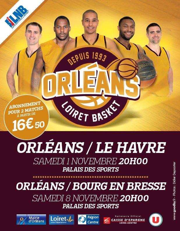 [Basket, Pro A : 6éme Journée] : Orléans Loiret Basket (17éme) VS STB Le Havre (9éme) 7
