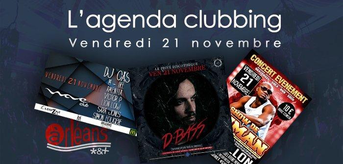L'agenda clubbing du vendredi 21 octobre 2