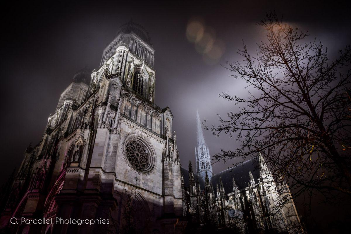 Photos du soir : La Cathédrale Sainte-Croix se couvre d'un linceul de brouillard 49
