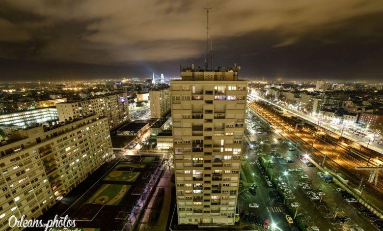 Photos du jour : Orléans vue de nuit du sommet 1