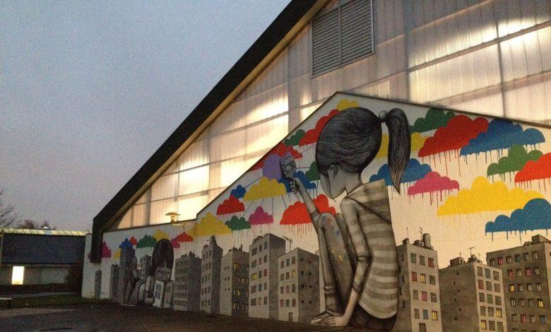 Peinture sur les murs du Collège André Chêne de Fleury 1