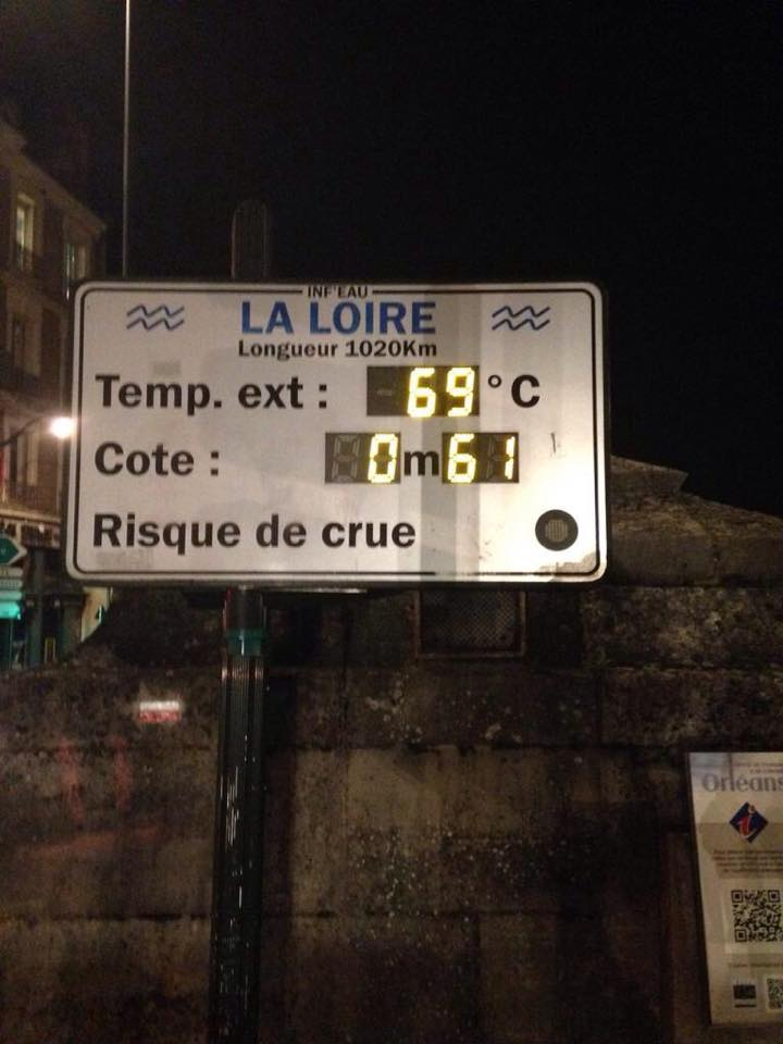 Janvier 69 degrés à Orléans