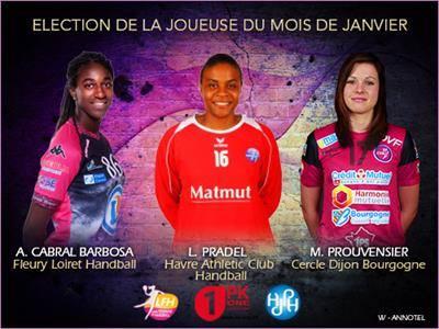 [Handball] : Alexandrina Cabral Barbosa, JOUEUSE LFH du mois de Janvier ? 1