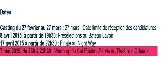 set elctro orléans 2015 parvis du theatre
