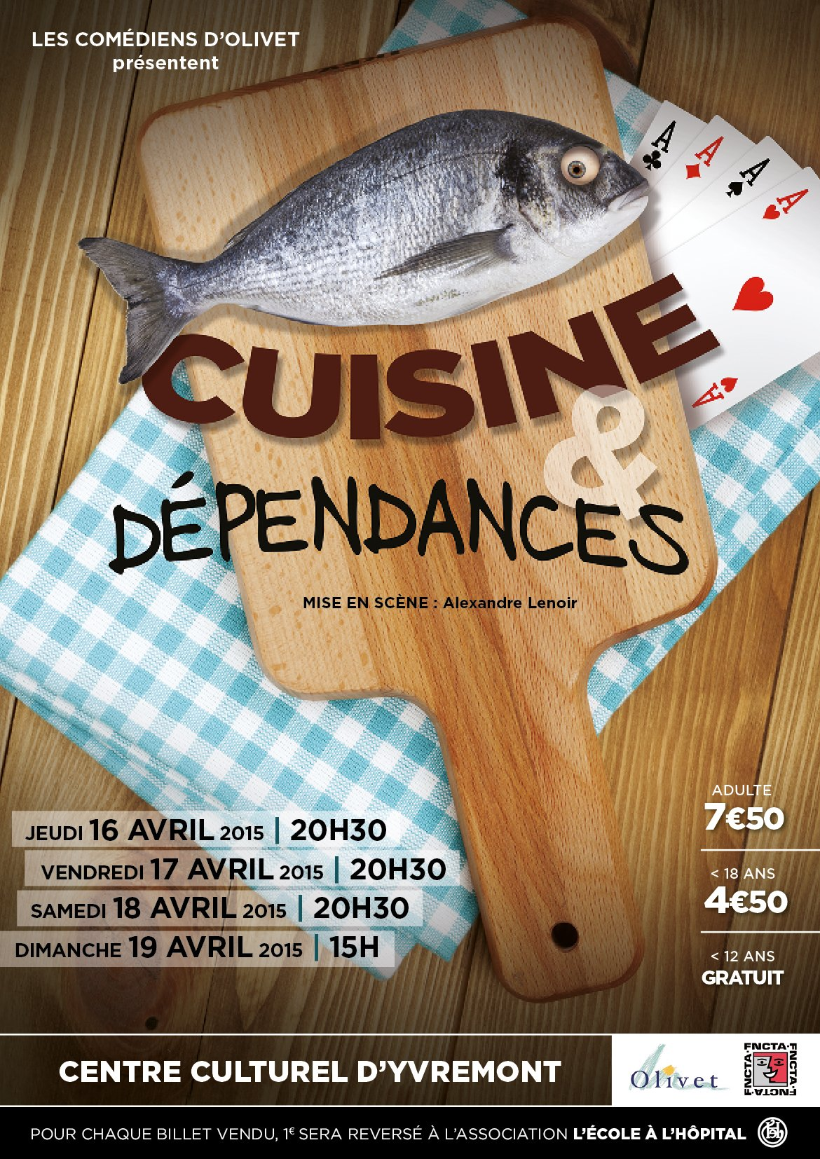 Les com diens d 39 olivet jouent cuisine et d pendances for Theatre cuisine et dependance